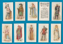 Cigarette cards set 1919  English Costumes of ten Centuries